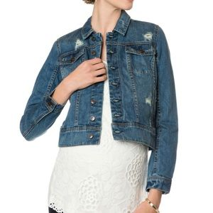 A PEA IN THE POD Maternity Jean Jacket